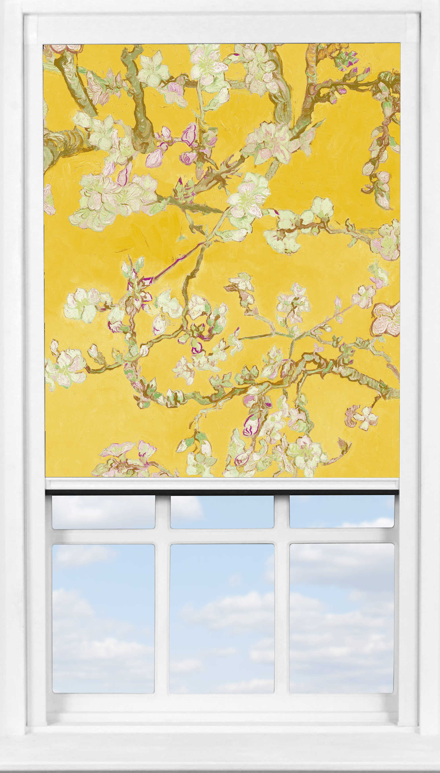 BlocOut™ in Van Gogh Almond Blossom Yellow Blackout