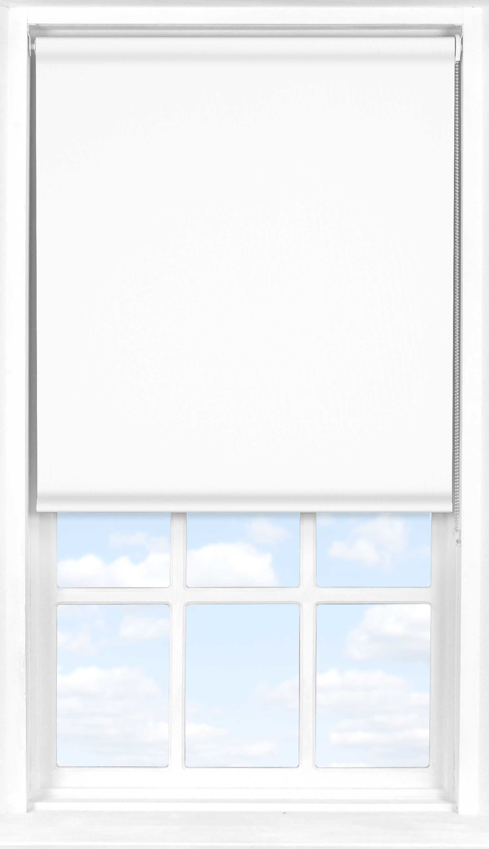 Motorised Roller Blind in PVC White