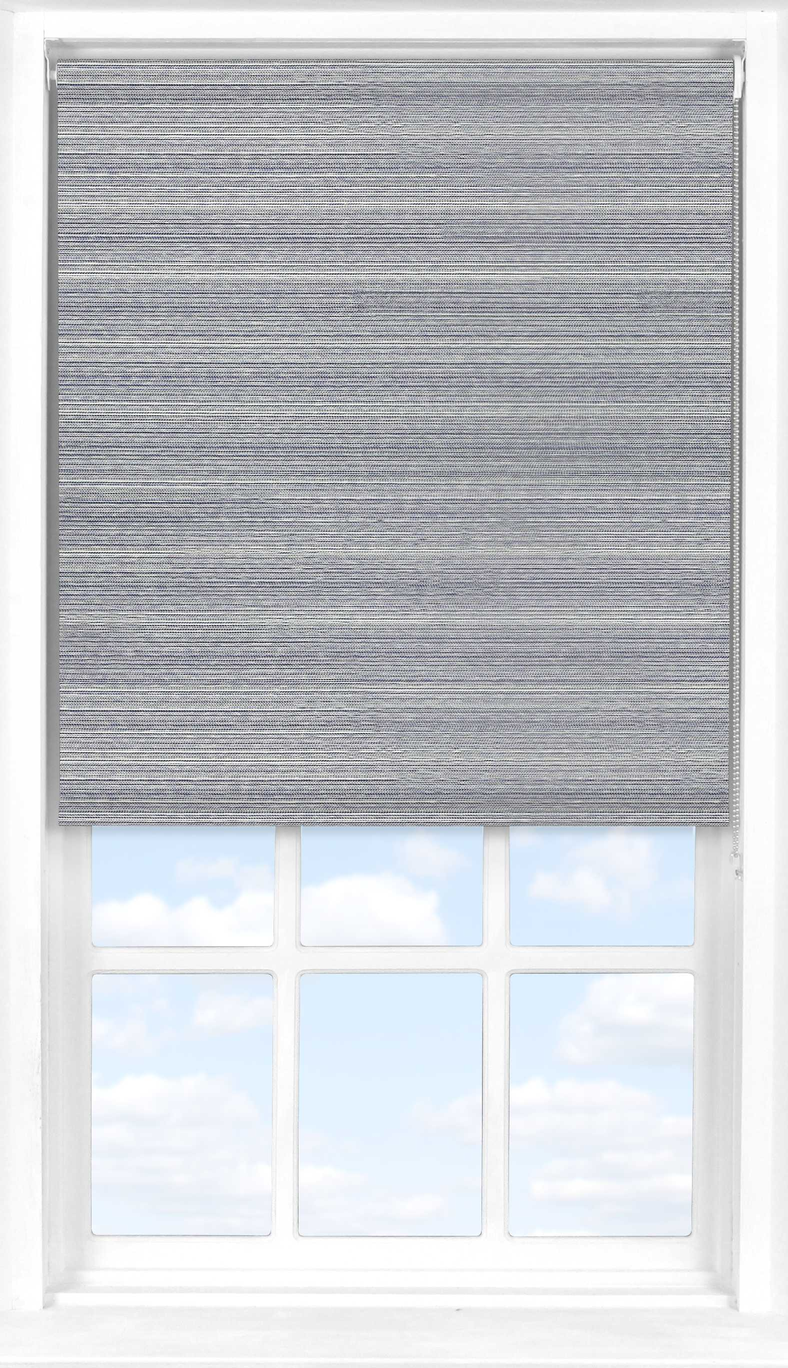 Roller Blind in Eastern Weave Pacific Translucent