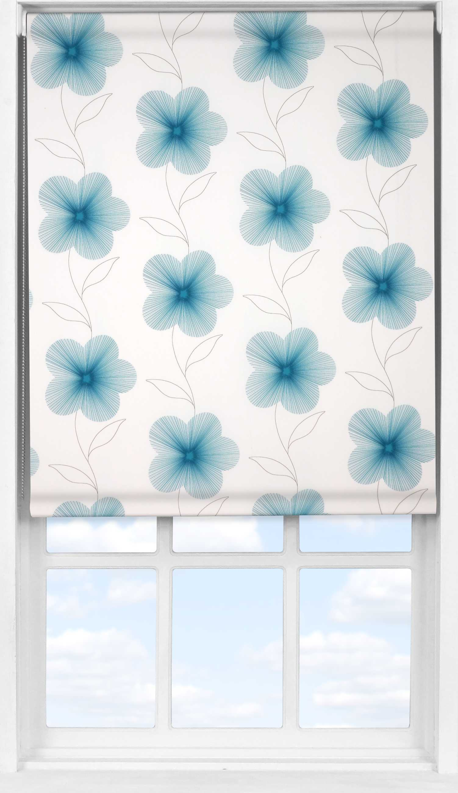 Easifit Roller Blind in Eve Blue Translucent