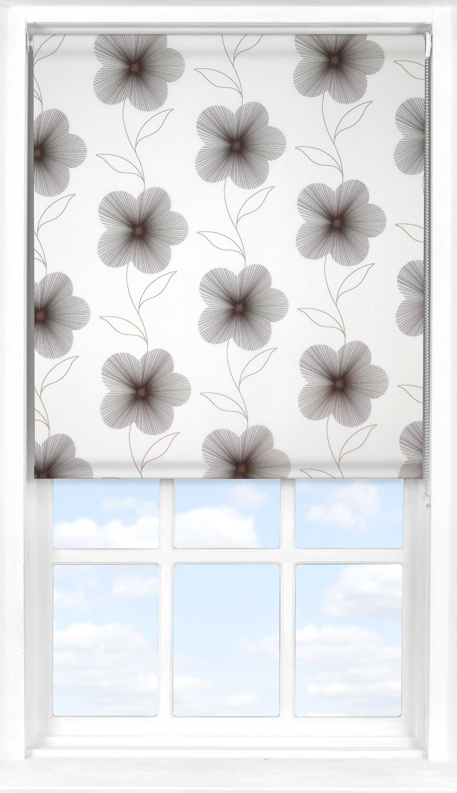 Motorised Roller Blind in Eve Brown Translucent