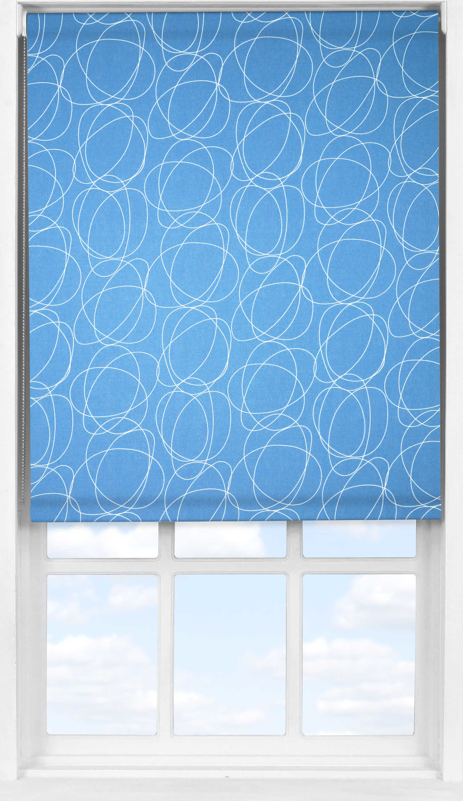 Easifit Roller Blind in Globe Cornflower Translucent