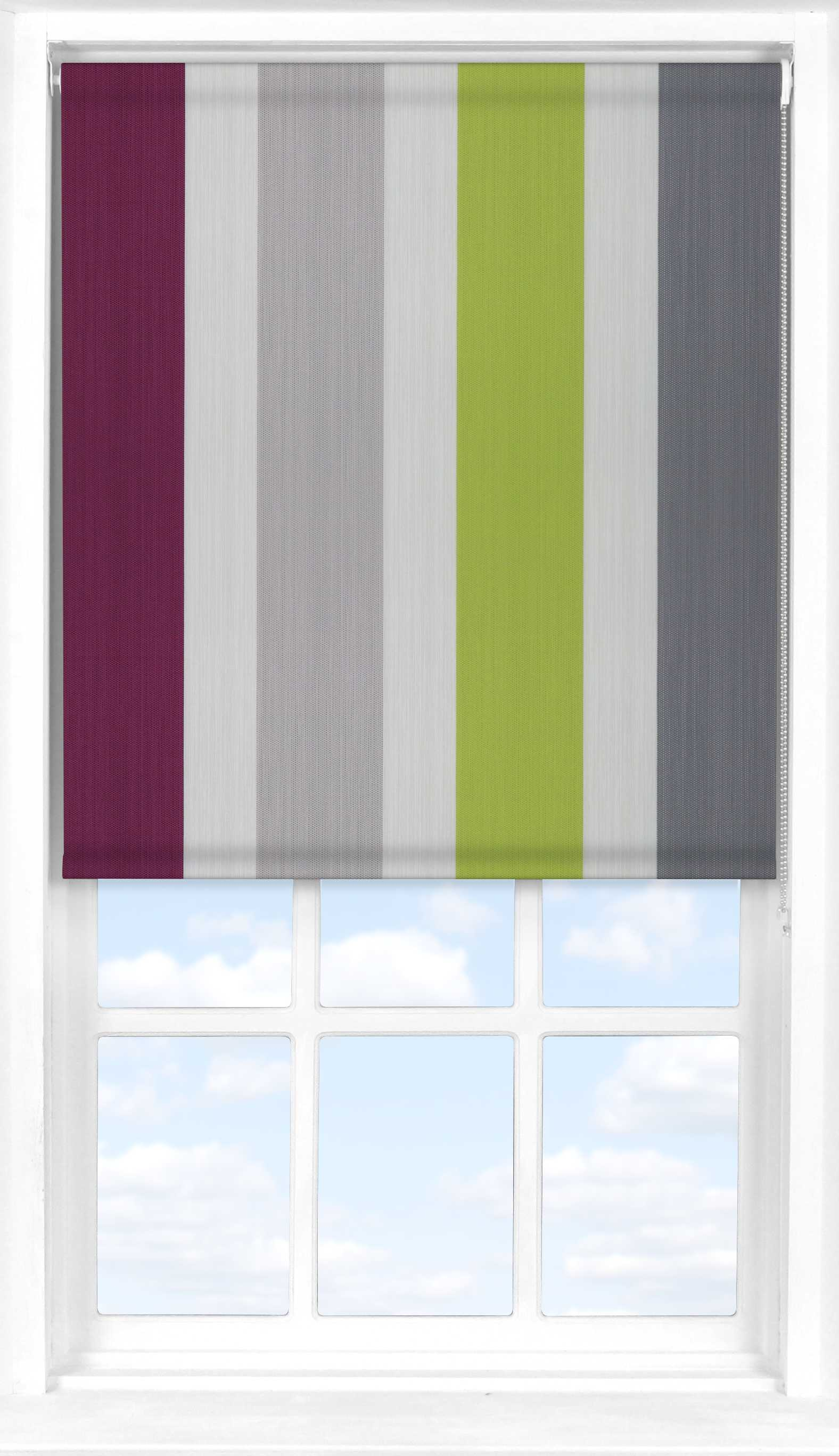 Motorised Roller Blind in Kensington Amethyst Translucent