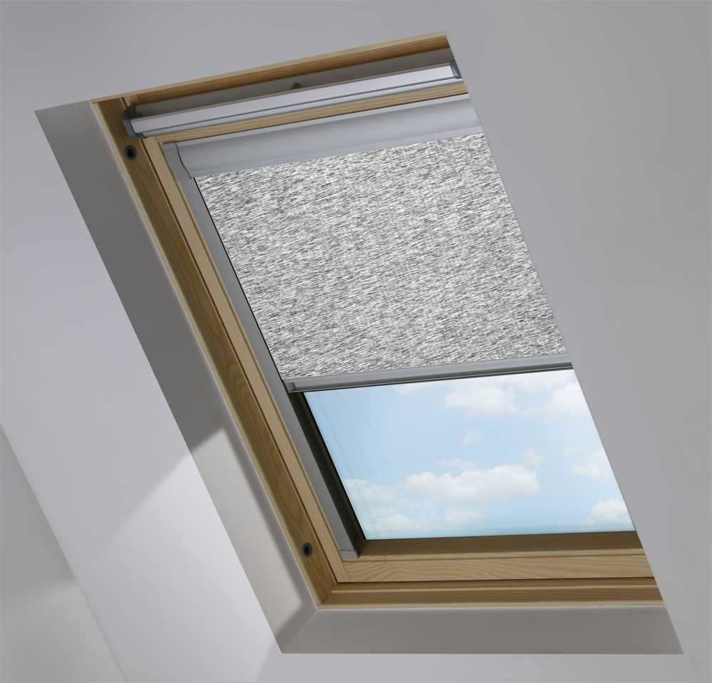 Made-To-Measure Premium Skylight Blind in Opus Carbon Translucent