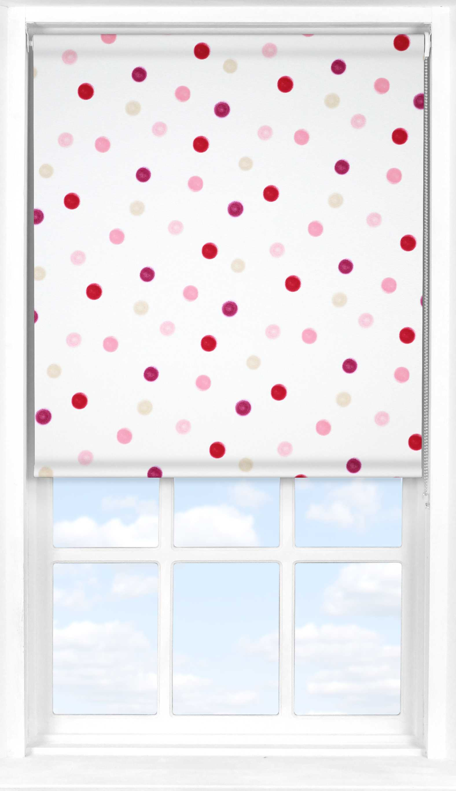 Roller Blind in Pastel Soft Pink Blackout