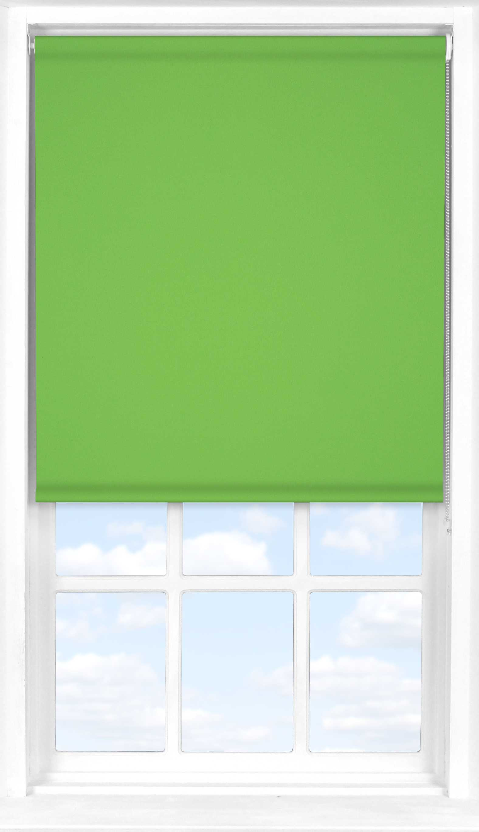 Roller Blind in Grass Green Translucent