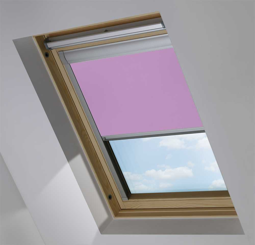 Made-To-Measure Premium Skylight Blind in Lavender Mist Blackout