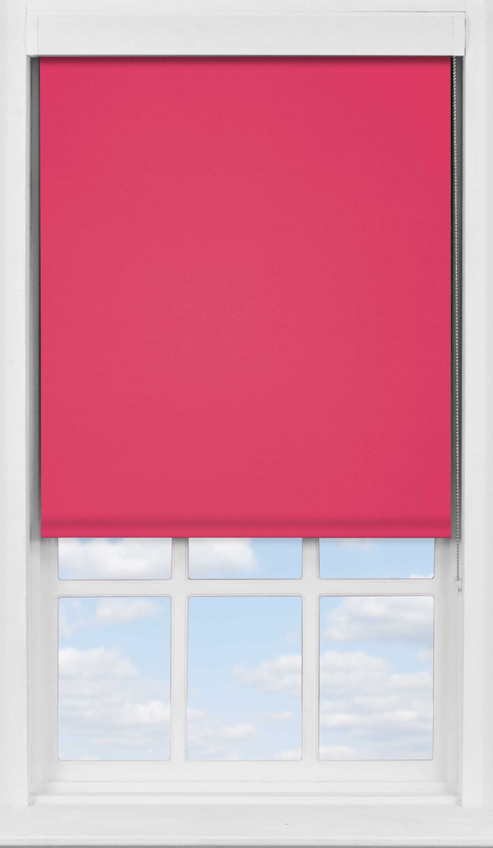 Premium Roller Blind in Raspberry Blackout