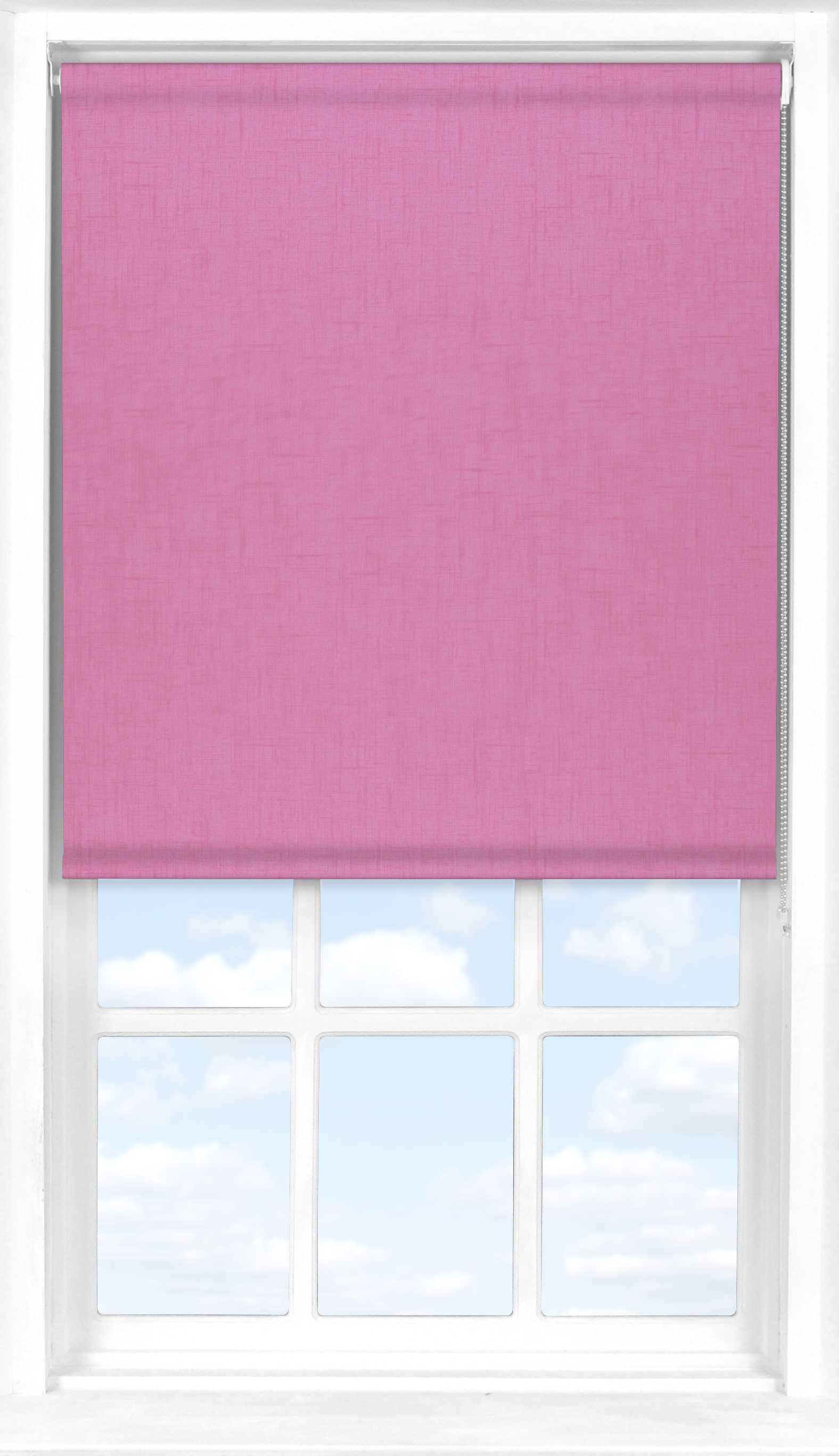 Roller Blind in Spectrum Prim Pink Blackout