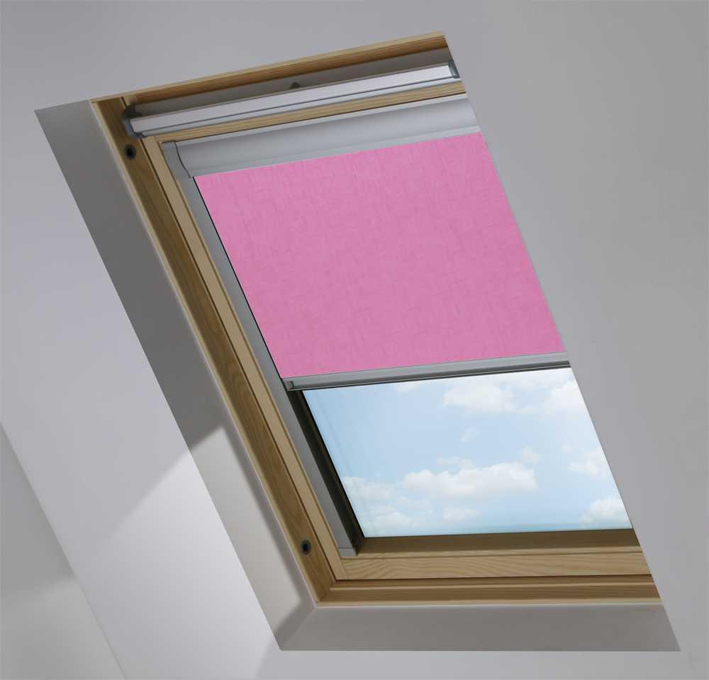 Made-To-Measure Premium Skylight Blind in Spectrum Prim Pink Blackout