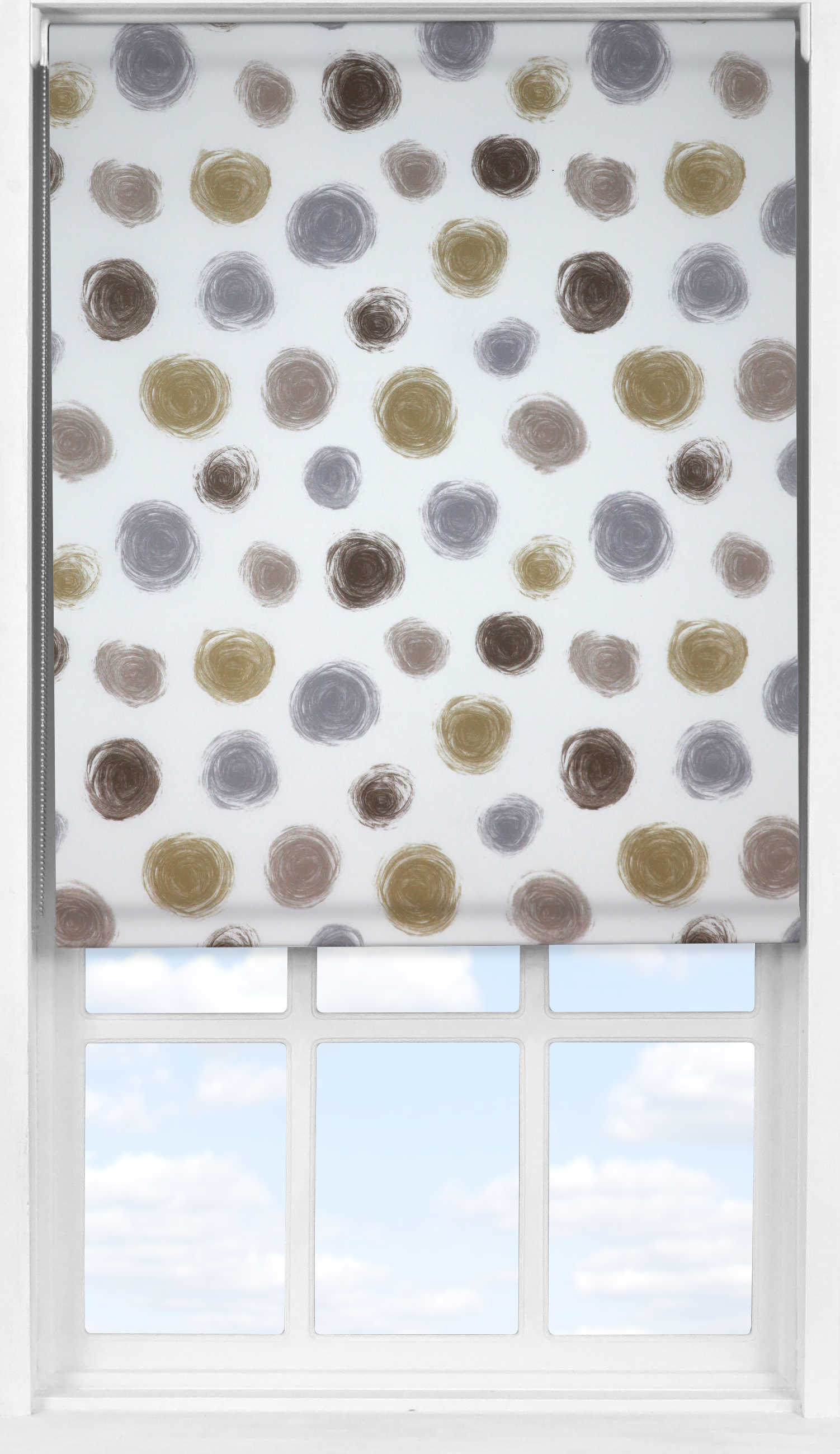 Easifit Roller Blind in Twirl Clay Translucent