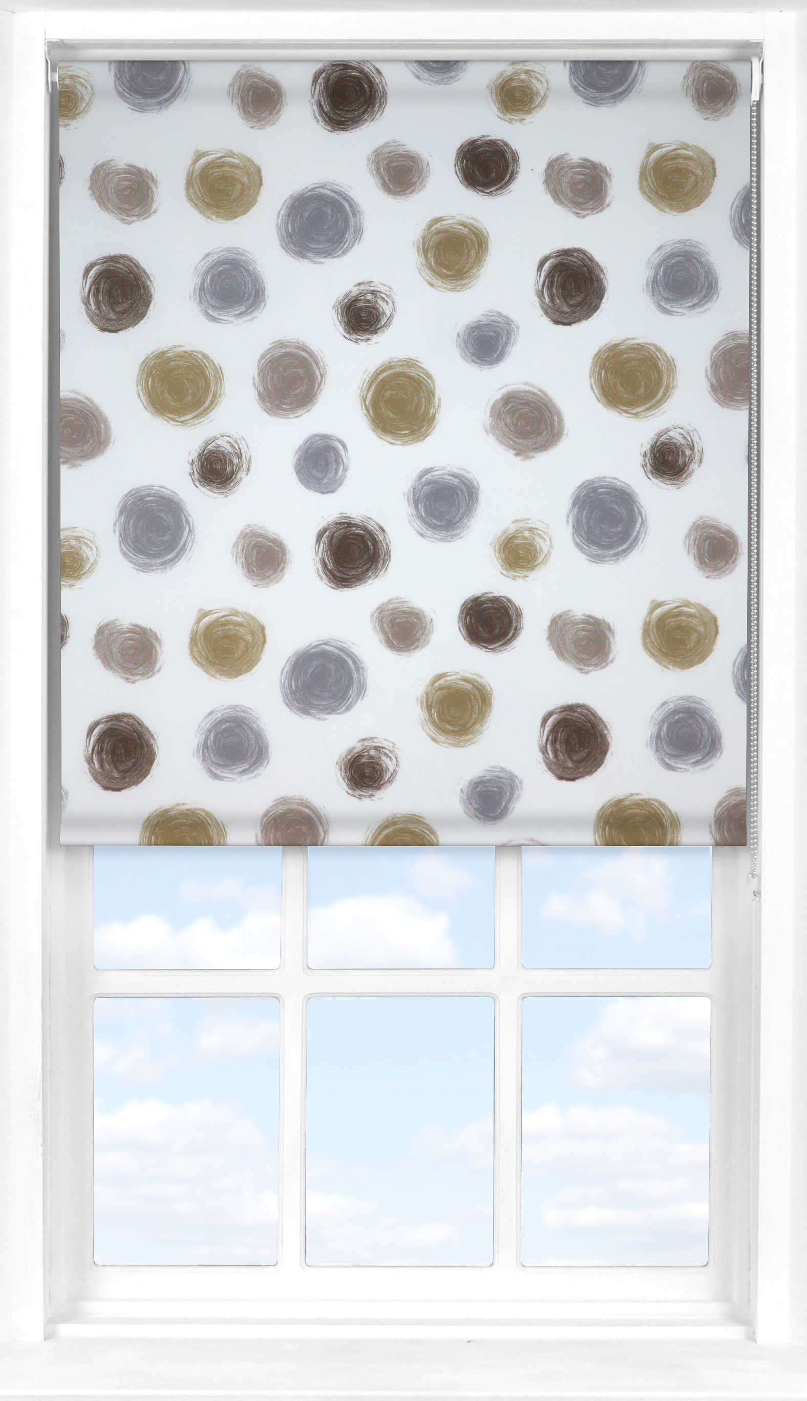 Motorised Roller Blind in Twirl Clay Translucent
