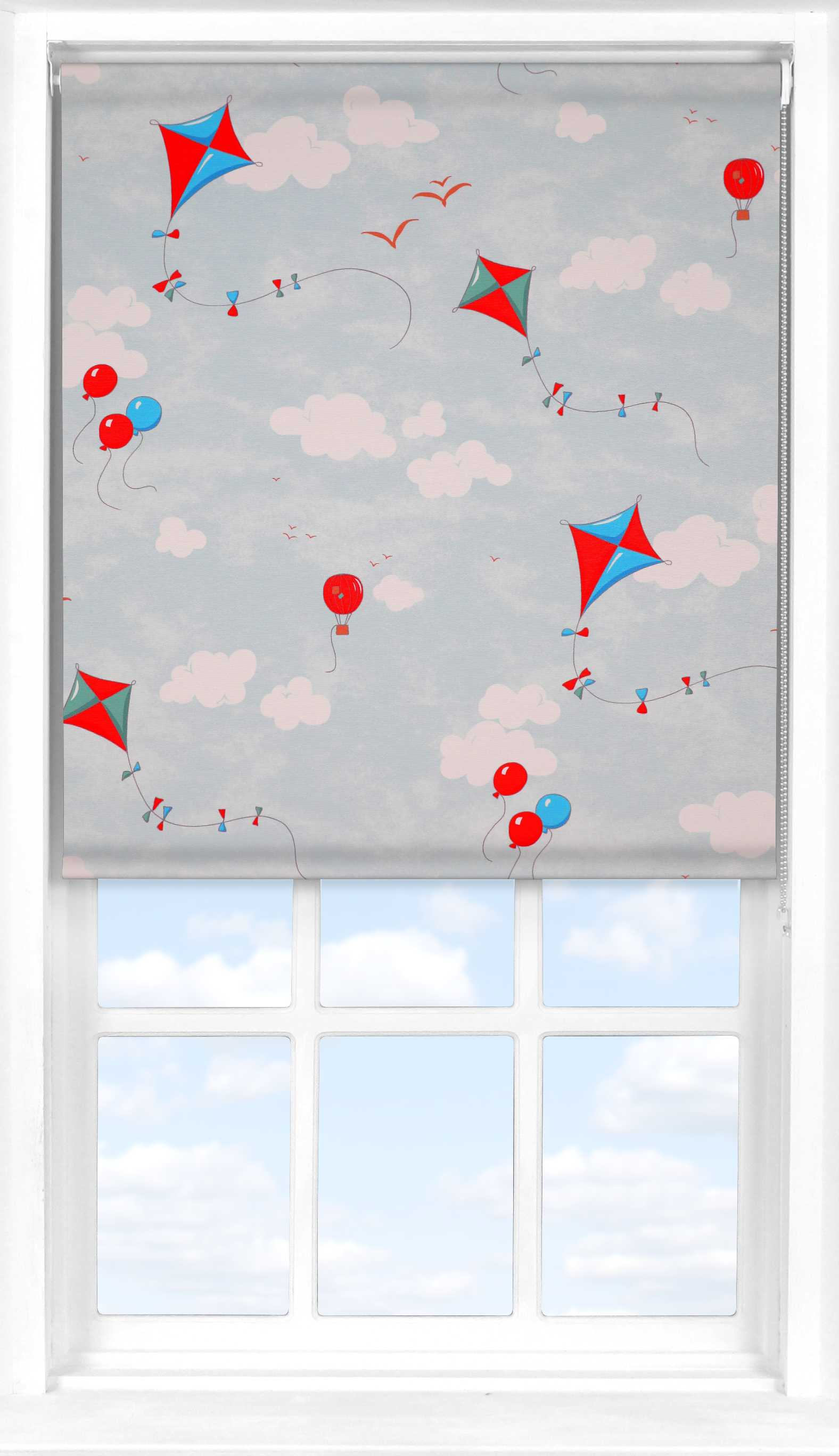 Roller Blind in Up & Away Blue Sky Blackout