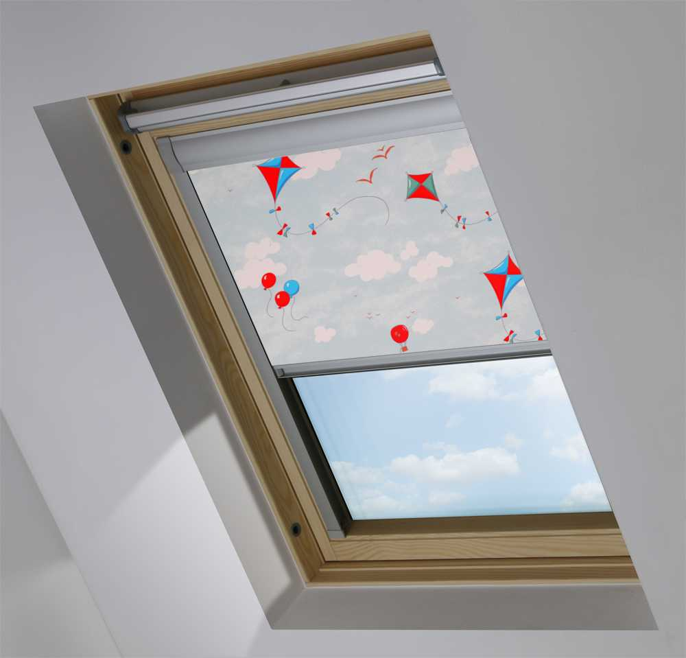 Skylight Blinds to Suit OKPOL® Windows in Up & Away Blue Sky Blackout