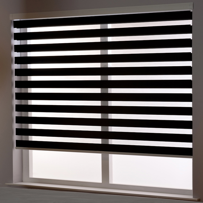 Zebra Roller Blind in Ebony