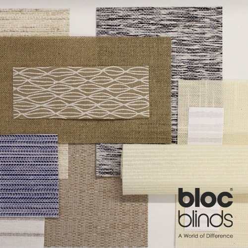 Textured window blinds