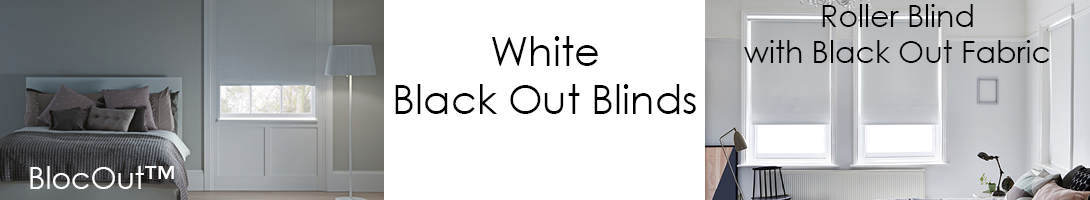 White Black Out Blinds