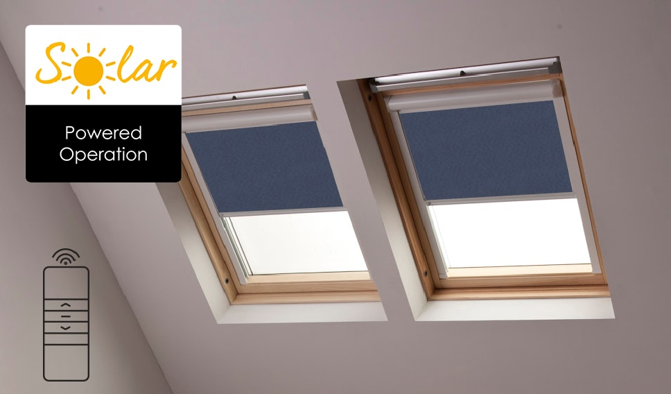 Solar Powered Velux Skylight Blinds From Bloc Blinds